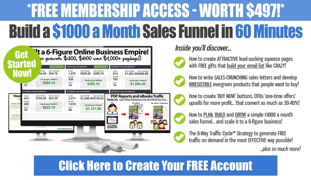 1000 a Month sales Funnel